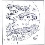 Kinderkleurplaten - My little pony regenboog 1