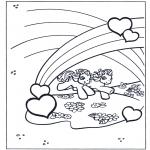 Kinderkleurplaten - My little pony regenboog 2