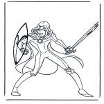 Stripfiguren Kleurplaten - Narnia 5