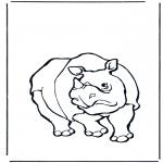 Kleurplaten Dieren - Neushoorn
