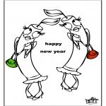 Thema Kleurplaten - Nieuwjaar 3