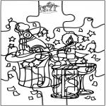 Thema Kleurplaten - Nieuwjaar puzzel