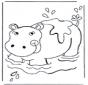 Nijlpaard in het water