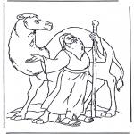 Kleurplaten Bijbel - Noach en een kameel