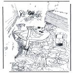 Stripfiguren Kleurplaten - Obelix, Idefix en Asterix