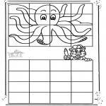Knutselen - Octopus overtekenen