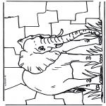 Kleurplaten Dieren - Olifant 2