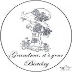 Knutselen - Oma's verjaardag