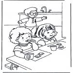 Kinderkleurplaten - Ontbijten