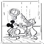 Stripfiguren Kleurplaten - Oom Dagobert 1