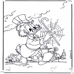 Stripfiguren kleurplaten - Oom Dagobert 2