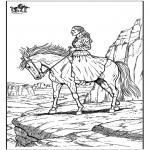 Kleurplaten dieren - Paard 10