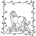 Kleurplaten dieren - Paard 2