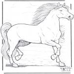 Kleurplaten Dieren - Paard 3