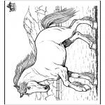 Kleurplaten dieren - Paard 8