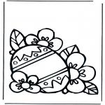 Thema Kleurplaten - Paasei 1