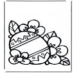 Thema Kleurplaten - Paasei 3