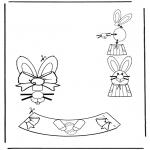 Thema Kleurplaten - Paasei versiering 3