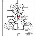 Thema Kleurplaten - Paashaas puzzel 3