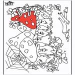 Allerlei Kleurplaten - Paddenstoelen 2