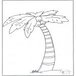 Allerlei Kleurplaten - Palmboom