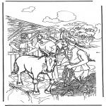 Kleurplaten Bijbel - Palmpasen 1