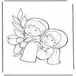 Kleurplaten Bijbel - Palmpasen 2