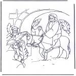Kleurplaten Bijbel - Palmpasen 4