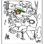 Kleurplaten Bijbel - Palmpasen 7