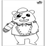 Kleurplaten Dieren - Panda 1