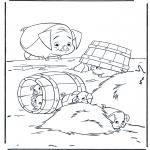 Stripfiguren Kleurplaten - Paniek op de prairie 3