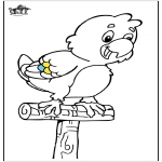 Kleurplaten dieren - Papegaai 5