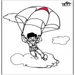 Allerlei Kleurplaten - Parachutespringen