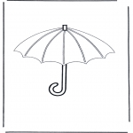 Allerlei Kleurplaten - Paraplu