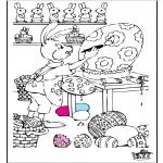 Thema Kleurplaten - Pasen 7