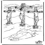 Kleurplaten Bijbel - Pasen Bijbel 1