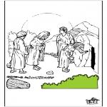 Kleurplaten Bijbel - Pasen Bijbel 7