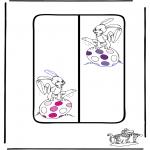 Thema Kleurplaten - Pasen boekenlegger 1