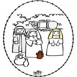 Kleurplaten Bijbel - Pasen borduurkaart