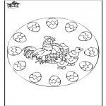 Thema Kleurplaten - Pasen mandala 2