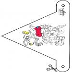 Thema Kleurplaten - Pasen vlaggetje
