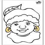 Knutselen Prikkaarten - Piet kleurplaat 1