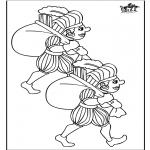 Knutselen Prikkaarten - Piet kleurplaat 2