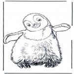 Kleurplaten Dieren - Pinguin 3