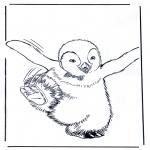 Kleurplaten Dieren - Pinguin 4