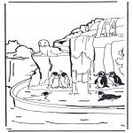 Kleurplaten Dieren - Pinguïns 1