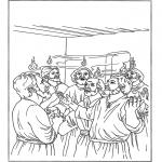 Kleurplaten Bijbel - Pinksteren 2