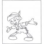Stripfiguren Kleurplaten - Pinokkio staat