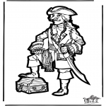 Knutselen Prikkaarten - Piraat knutselen