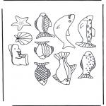 Kleurplaten Dieren - Plaatjes vissen
